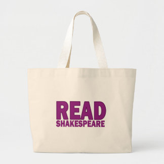 Read Shakespeare Canvas Bag