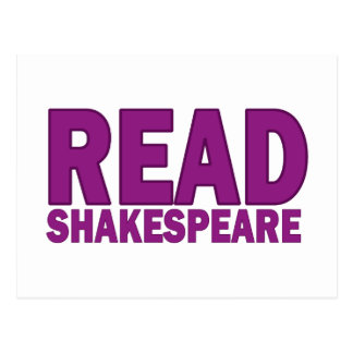 Read Shakespeare Post Card
