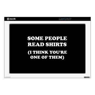 """Read Shirts 17"""" Laptop Skins"""