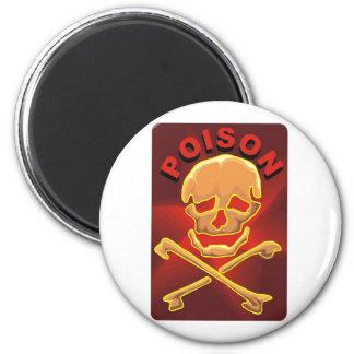 Read Skull Poison Fridge Magnet