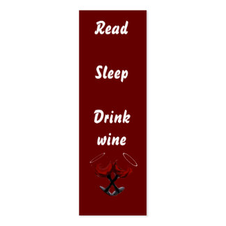 Read  Sleep Drink wine~bookmark Business Card Template