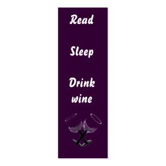 Read Sleep Drink wine~bookmarks Business Card Templates