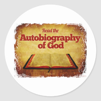 Read the Autobiography of God Classic Round Sticker