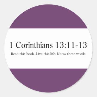 Read the Bible 1 Corinthians 13:11-13 Stickers