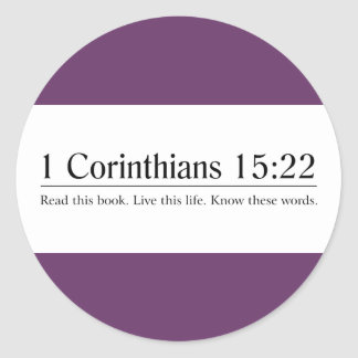 Read the Bible 1 Corinthians 15:22 Stickers