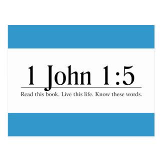 Read the Bible 1 John 1:5 Postcard
