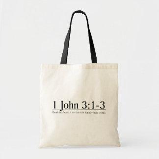 Read the Bible 1 John 3:1-3 Tote Bag