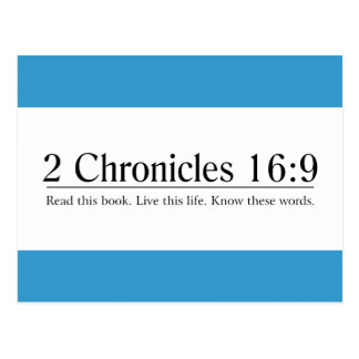 Read the Bible 2 Chronicles 16:9 Postcard