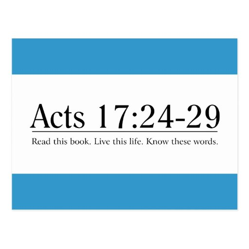 Read the Bible Acts 17:24-29 Postcard