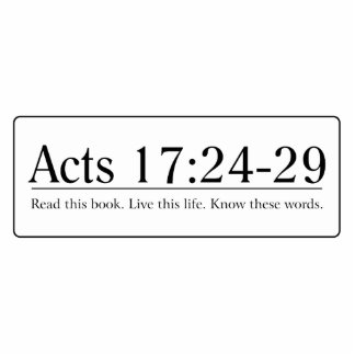 Read the Bible Acts 17:24-29 Statuette