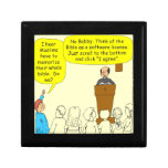 Read the bible - color Cartoon Trinket Boxes