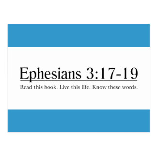 Read the Bible Ephesians 3:17-19 Post Cards