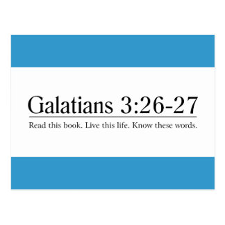 Read the Bible Galatians 3:26-27 Postcard