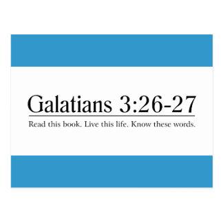 Read the Bible Galatians 3:26-27 Postcard