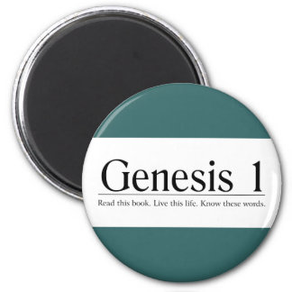 Read the Bible Genesis 1 2 Inch Round Magnet
