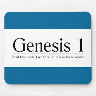 Read the Bible Genesis 1 Mouse Pad