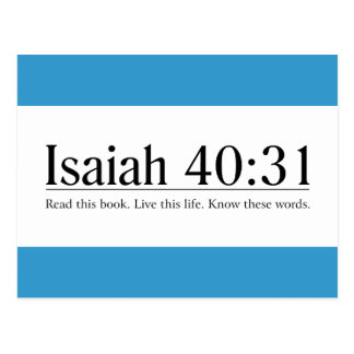 Read the Bible Isaiah 40:31 Postcard