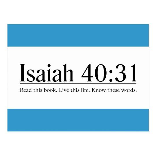 Read the Bible Isaiah 40:31 Postcard