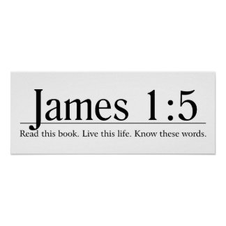 Read the Bible James 1:5 Poster