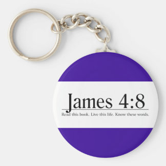 Read the Bible James 4:8 Keychain