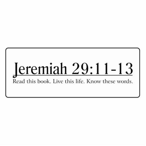 Read the Bible Jeremiah 29:11-13 Photo Sculpture