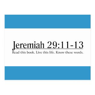 Read the Bible Jeremiah 29:11-13 Postcard