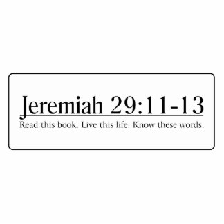 Read the Bible Jeremiah 29:11-13 Statuette