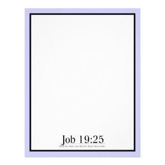 Read the Bible Job 19:25 Personalized Letterhead