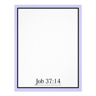 Read the Bible Job 37:14 Letterhead
