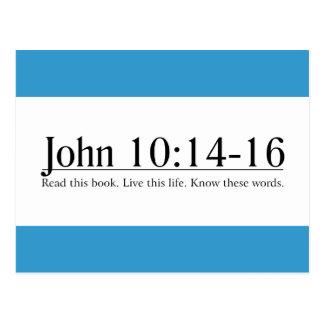 Read the Bible John 10:14-16 Postcard