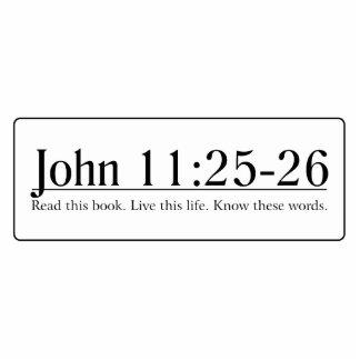 Read the Bible John 11 25-26 Cut Out