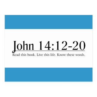 Read the Bible John 14:12-20 Postcard