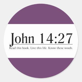 Read the Bible John 14:27 Classic Round Sticker