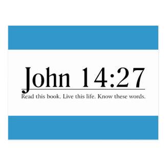 Read the Bible John 14:27 Postcard