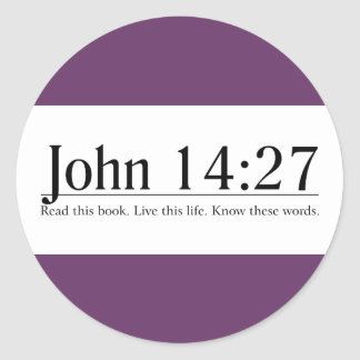 Read the Bible John 14 27 Round Stickers