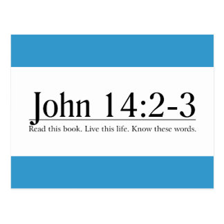 Read the Bible John 14:2-3 Postcard