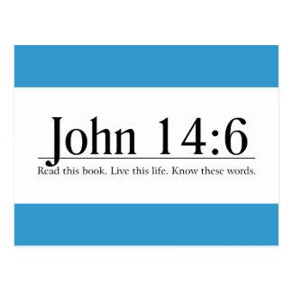 Read the Bible John 14:6 Postcard