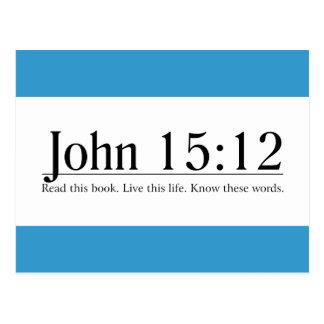 Read the Bible John 15:12 Postcard