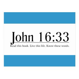 Read the Bible John 16:33 Postcard