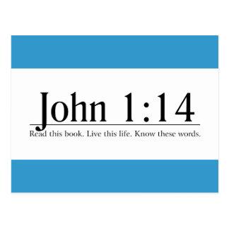 Read the Bible John 1:14 Postcard