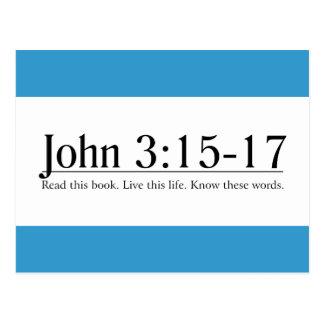 Read the Bible John 3:15-17 Postcard