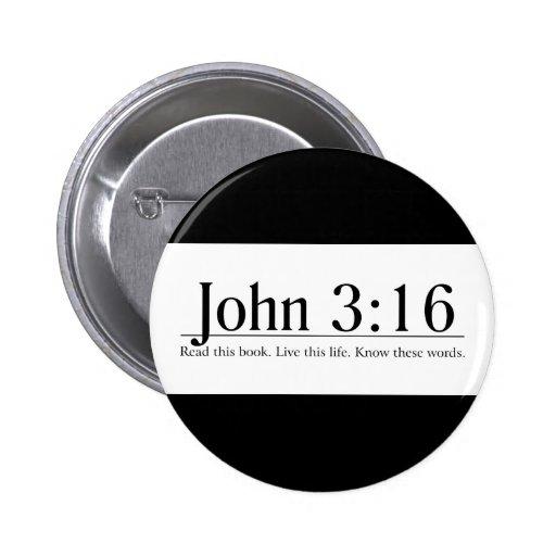 Read the Bible John 3:16 Pinback Buttons