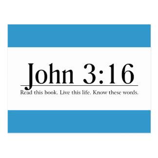 Read the Bible John 3:16 Postcard