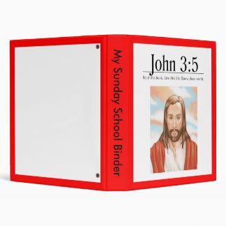 Read the Bible John 3:5 3 Ring Binder