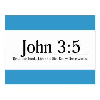 Read the Bible John 3:5 Postcard