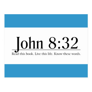 Read the Bible John 8:32 Postcard