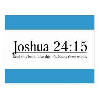 Read the Bible Joshua 24:15 Postcard
