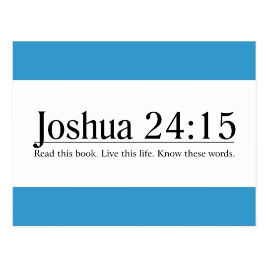 Read the Bible Joshua 24:15 Postcard