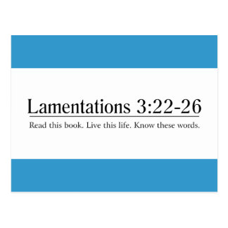 Read the Bible Lamentations 3:22-26 Post Cards