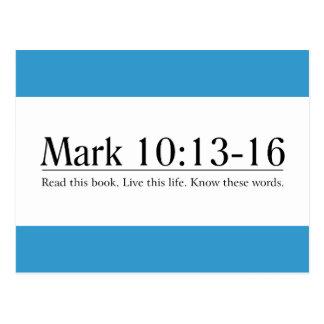 Read the Bible Mark 10:13-16 Postcard